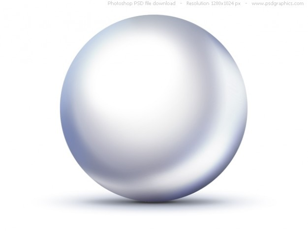 Psd glanzende witte parel icoon Gratis Psd