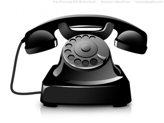 Psd icona del telefono vecchio Psd Gratuite