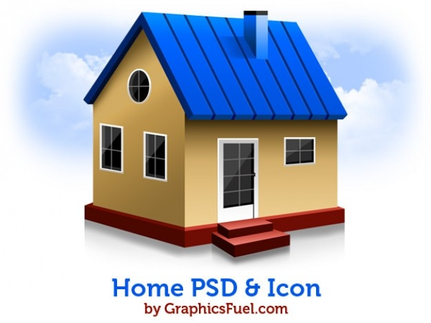 Psd y los iconos de su casa descargar psd gratis for Para su casa