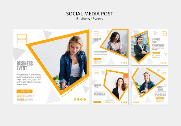 Publicación comercial en línea en las redes sociales PSD gratuito