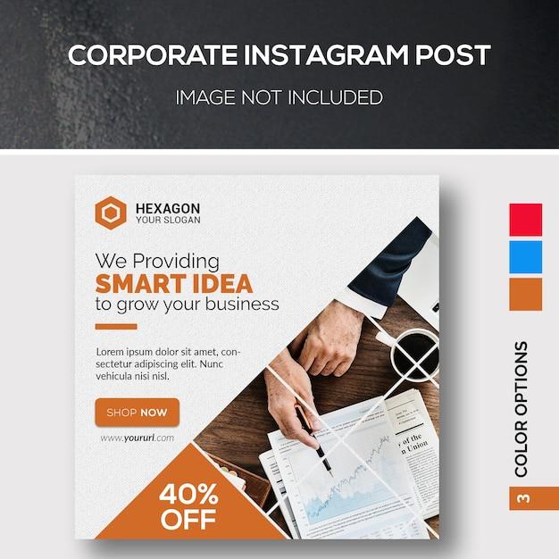 Publicación corporativa de instagram PSD Premium