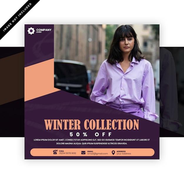 Publicación de instagram de moda o folleto cuadrado PSD Premium