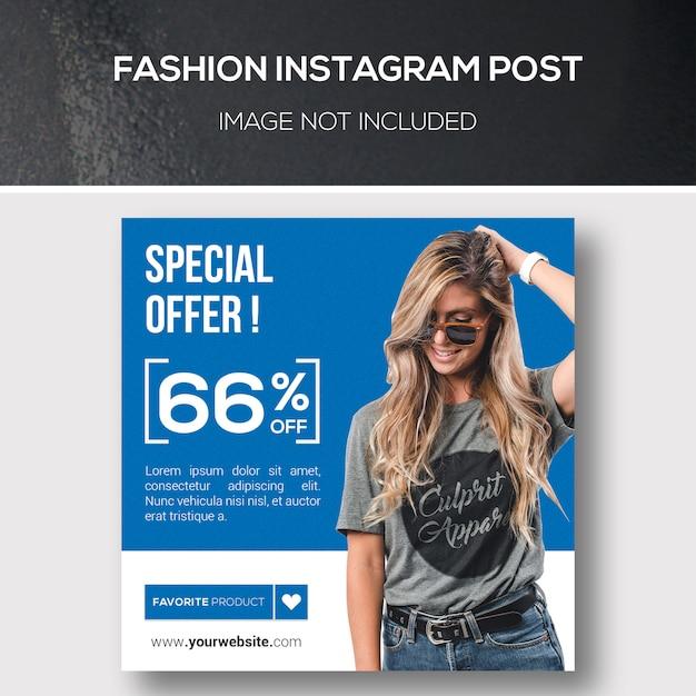 Publicación de instagram de moda PSD Premium