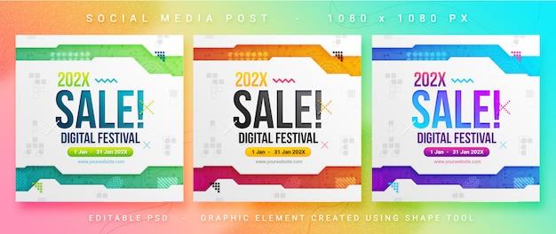 Publicación de redes sociales de ventas multipropósito PSD Premium