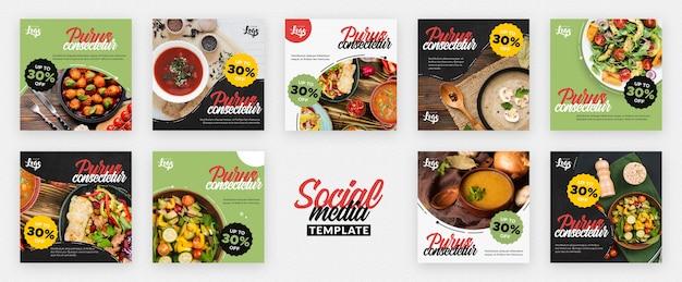 Publicación saludable y bio en redes sociales PSD gratuito