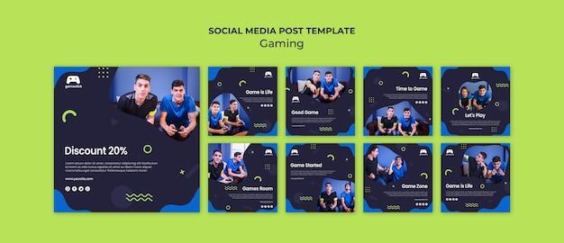 Publicaciones en redes sociales de videojuegos PSD gratuito