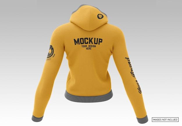 Pullover hoodie - achteraanzicht Premium Psd