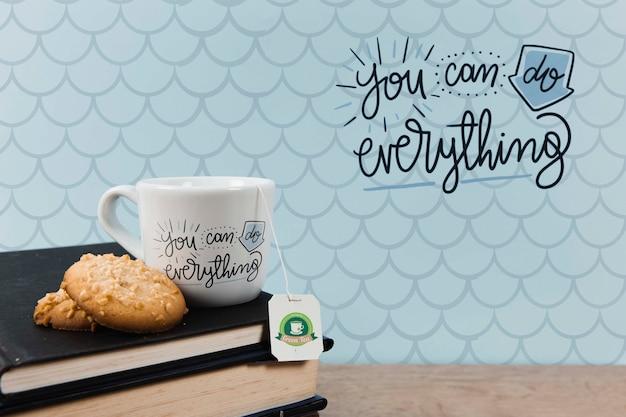 Puoi fare tutto citare con una tazza di tè Psd Gratuite
