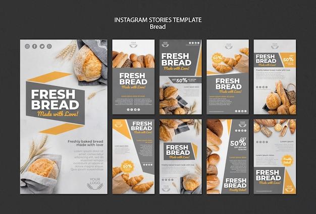 Raccolta di storie su instagram per la panetteria Psd Gratuite