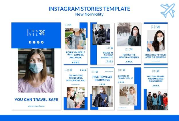 Raccolta di storie su instagram per la prenotazione di viaggi Psd Gratuite