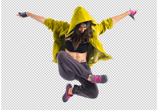 Ragazza adolescente ballare hip-hop Psd Premium