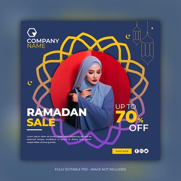 Ramadan fashion sale vierkante bannermalplaatje Premium Psd