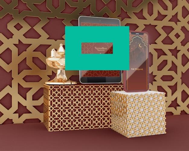 Ramadan kareem concept mock-up Gratis Psd