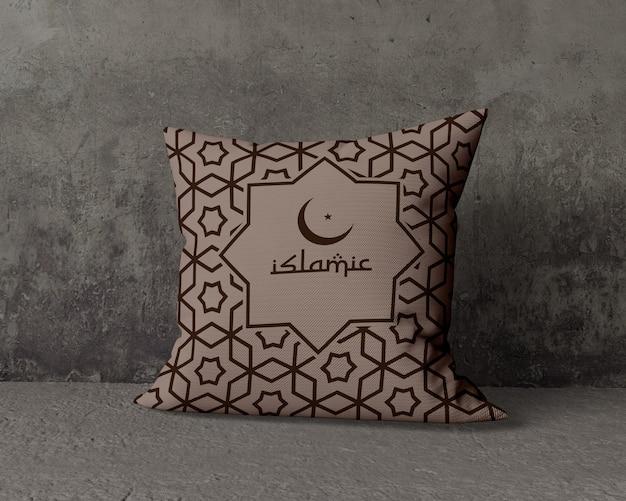 Ramadan samenstelling mock-up met kussen Gratis Psd