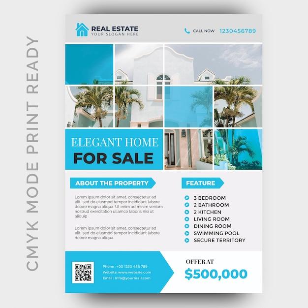 Real estate business flyer ontwerpsjabloon Premium Psd