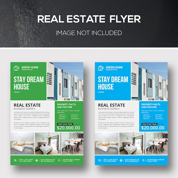 Real estate flyer-sjabloon Premium Psd