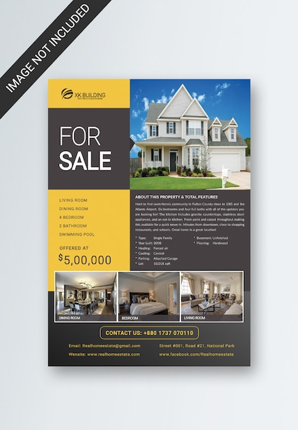 Real estate flyer Psd Premium