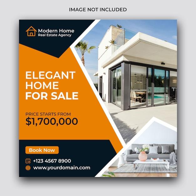 Real estate social media post en webbanner Premium Psd