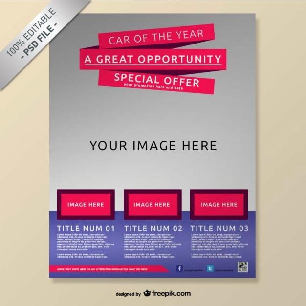 Realistico brochure gratuita mock-up Psd Gratuite