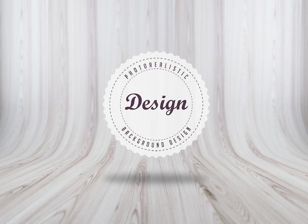 Realistico disegno texture di sfondo woodboard Psd Gratuite
