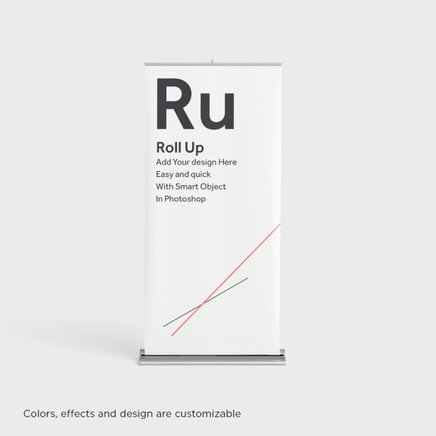 Realistico roll up mock up Psd Gratuite