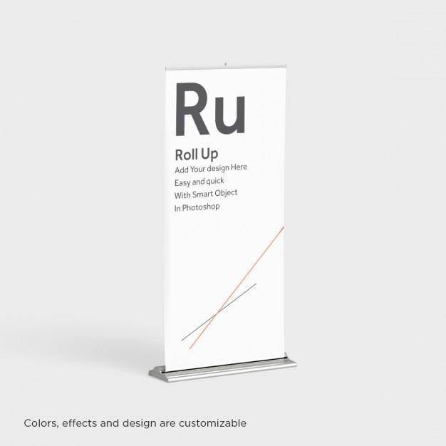 Realistico roll up presentazione Psd Gratuite