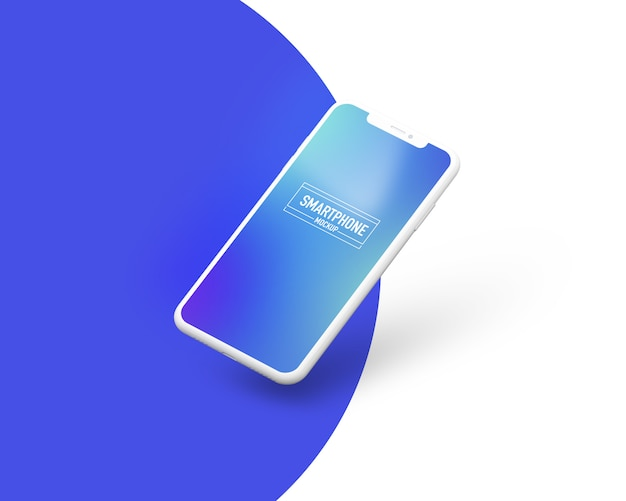 Realistico smartphone mockup. pulisca il modello dello smartphone Psd Premium