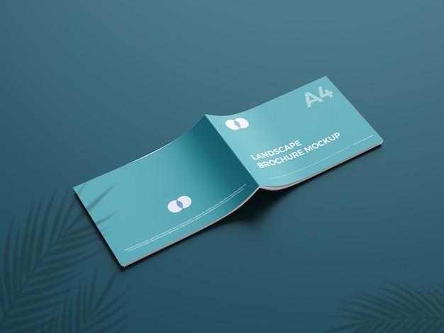 Realistisch a4-landcape-brochuremodel 5 Premium Psd