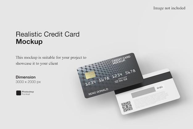 Realistisch creditcardmodel Premium Psd