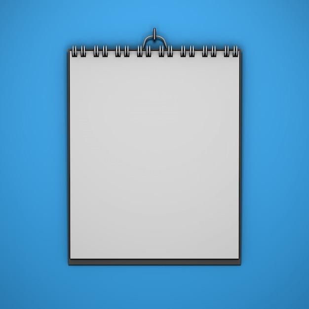 Realistisch hangend kalendermodel met kleurenachtergrond Gratis Psd