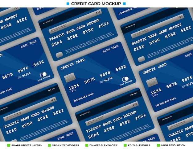 Realistisch plastic creditcard- of bankkaartmodel Premium Psd