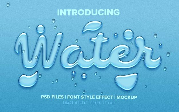 Realistisch waterdruppels lettertype stijl teksteffect Premium Psd