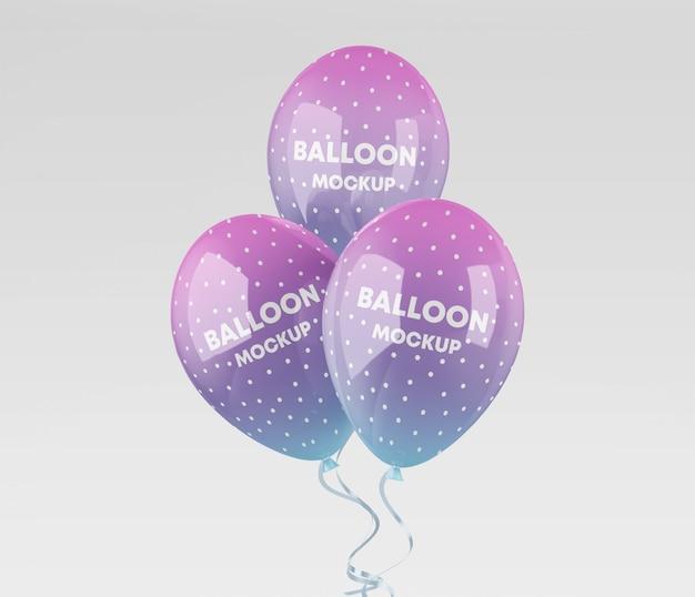 Realistische ballonnen mockup Premium Psd