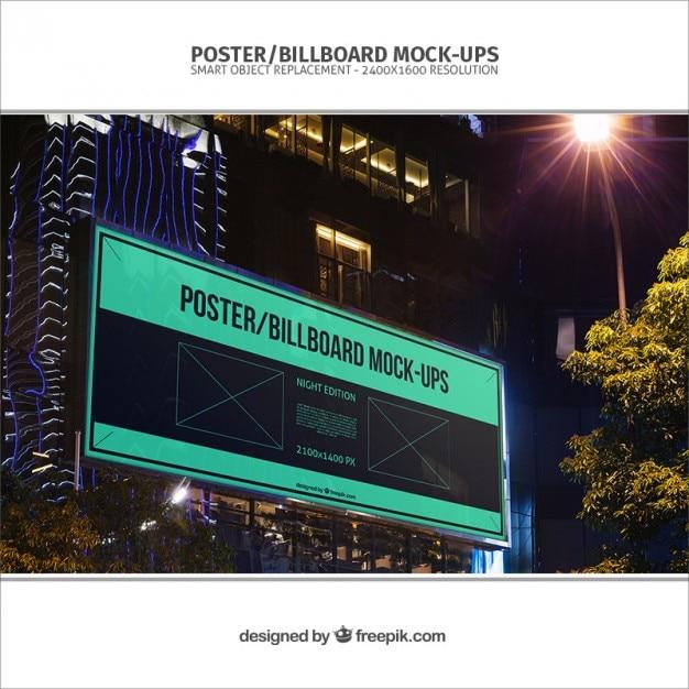 Realistische billboard mockup Gratis Psd
