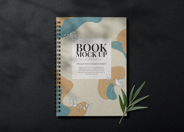 Realistische boekomslag mockup sjabloon Premium Psd