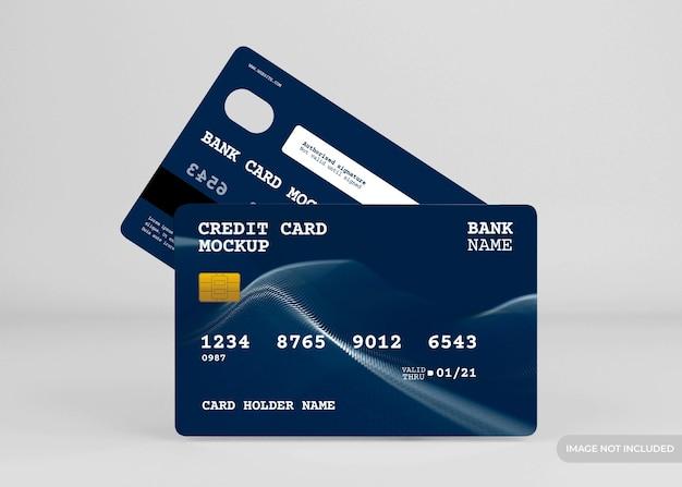 Realistische creditcard mockup ontwerp geïsoleerd Premium Psd