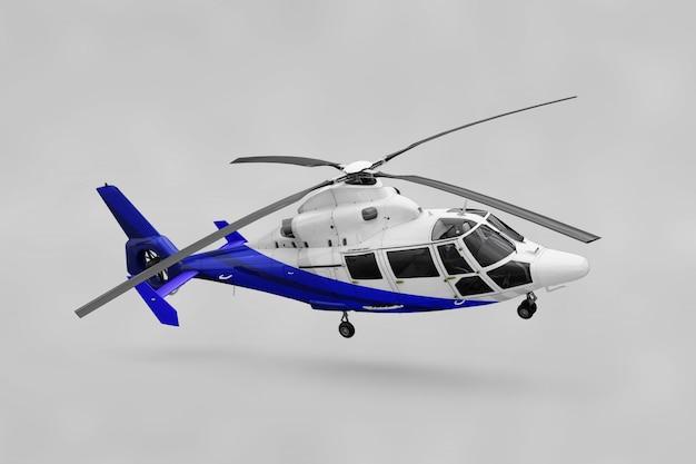 Realistische helikoptermockup Gratis Psd