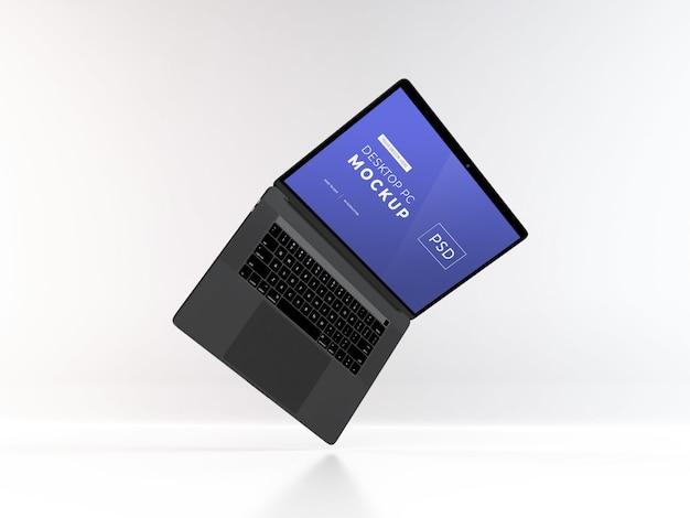 Realistische laptop mockup-sjabloon psd Premium Psd