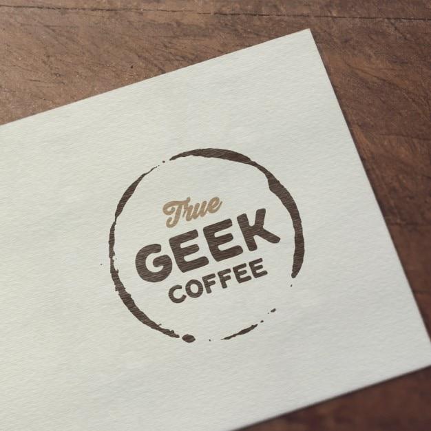 Realistische logo mock up presentatie Gratis Psd