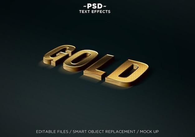 Realistische mock up gold-effecten bewerkbare tekst Premium Psd