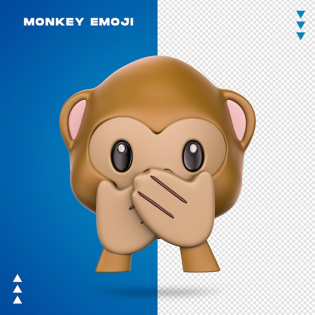 Realistische monkey emoji Premium Psd