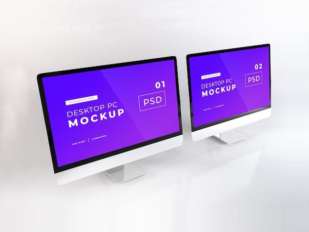 Realistische personal computer Premium Psd