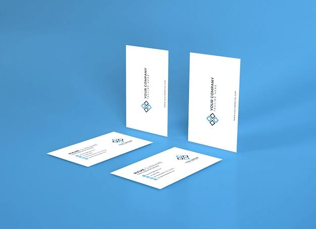 Realistische sjabloon voor visitekaartjes psd Premium Psd