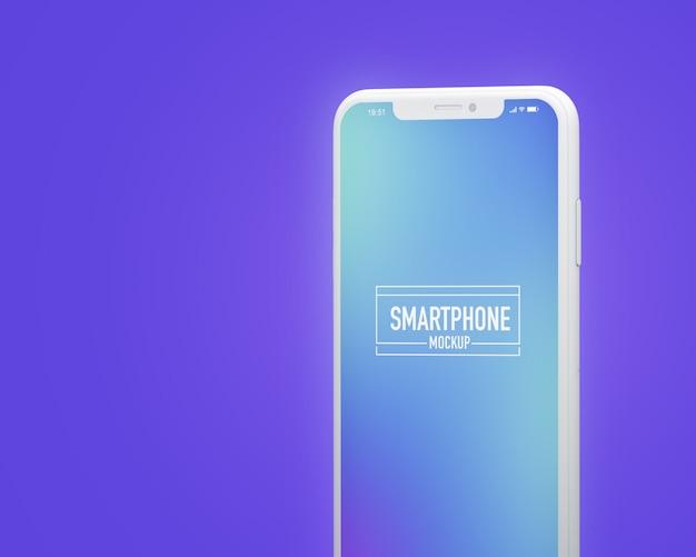Realistische smartphone mockup. schoon smartphonemodel Premium Psd