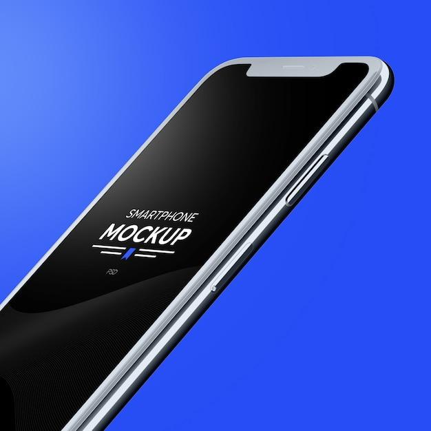 Realistische smartphone-model Premium Psd