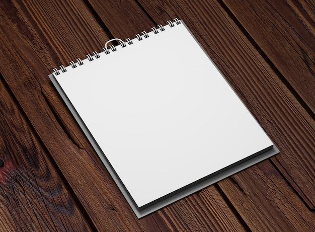 Realistische vierkante kalender op hout Gratis Psd
