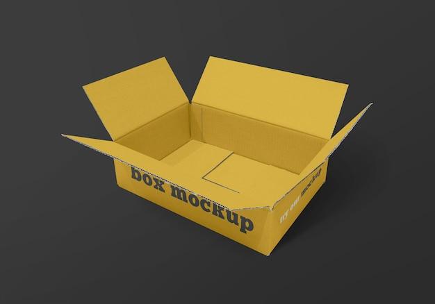 Rechthoekige doos mockup geïsoleerd Premium Psd