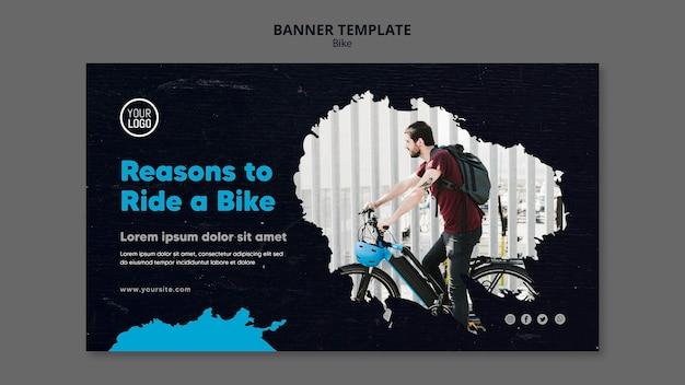 Redenen om op een fietsadvertentiesjabloon te rijden Gratis Psd