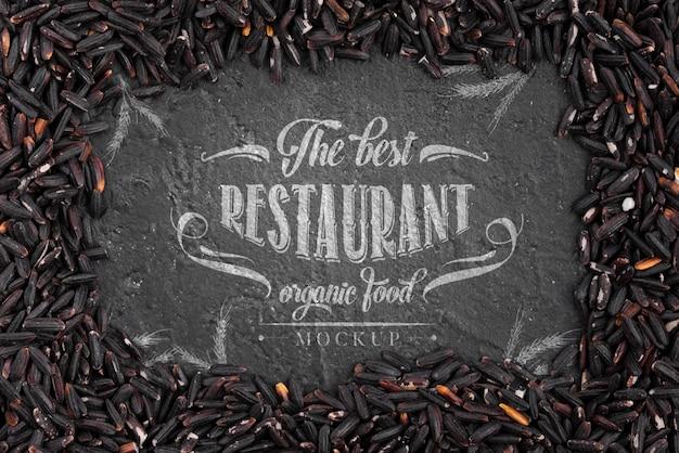 Regeling van mock-up van restaurant donker voedsel Gratis Psd
