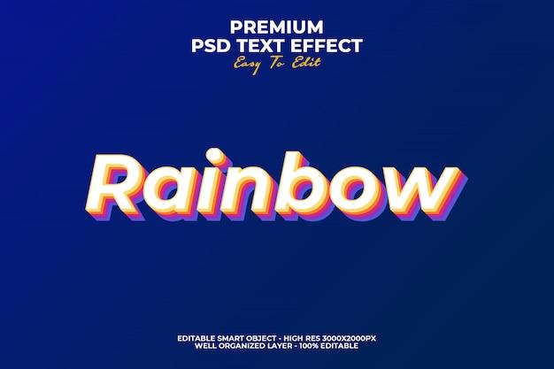 Regenboog teksteffect Premium Psd